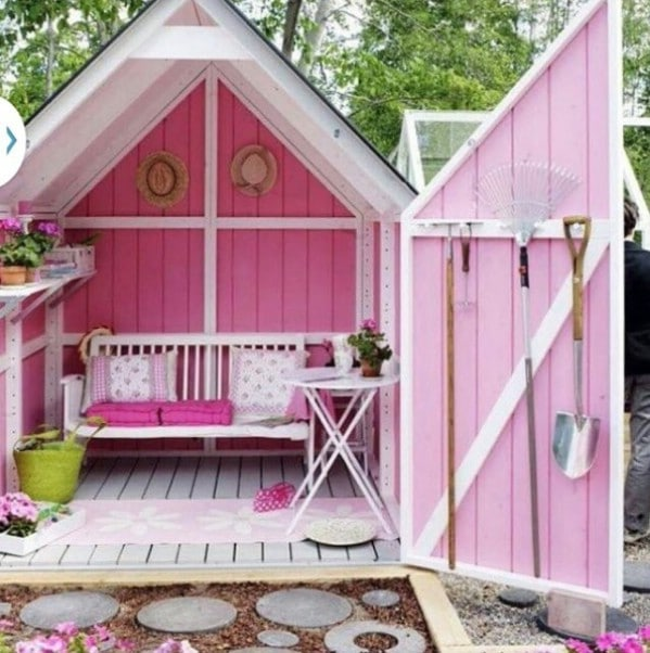 Pretty in Pink - Top 80 Gorgeously Comfortable She Sheds and Backyard Tiny Houses