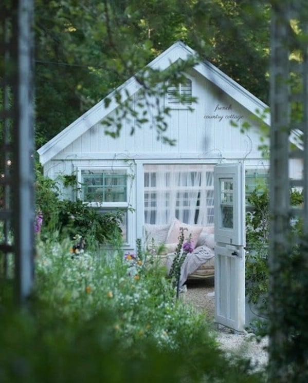 Cover your shed completely in plants. - Top 80 Gorgeously Comfortable She Sheds and Backyard Tiny Houses