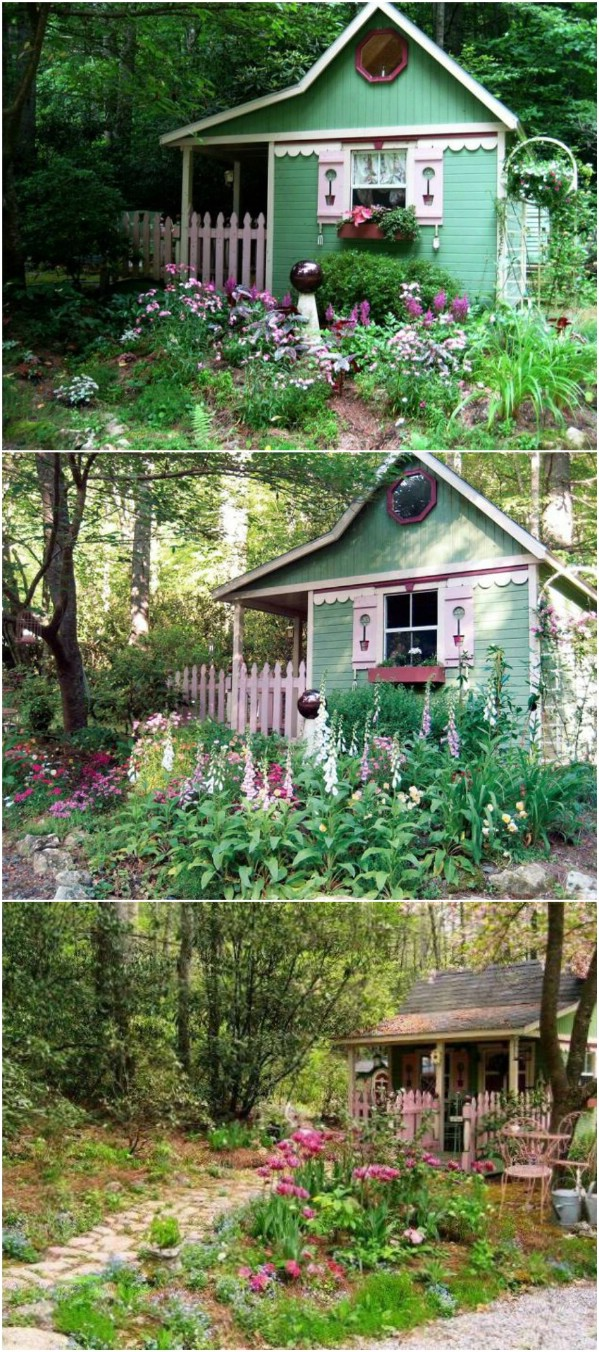 Fairytale Shed - Top 80 Gorgeously Comfortable She Sheds and Backyard Tiny Houses