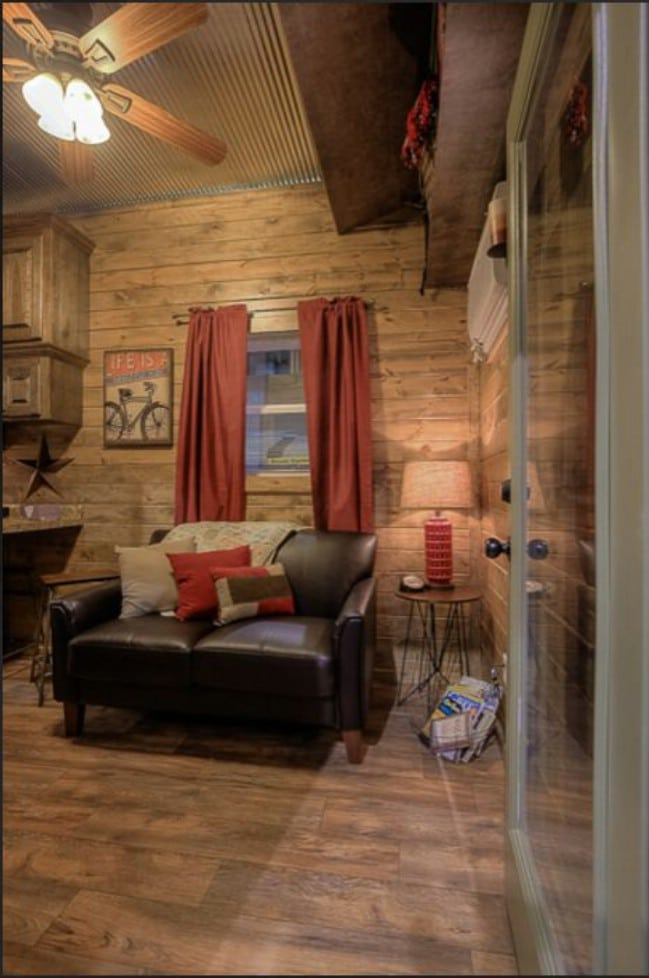 This Shipping Container Was Turned Into A Rustic Log Tiny