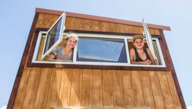 New Zealand Couple Build Tiny House to Live in During College and Beyond