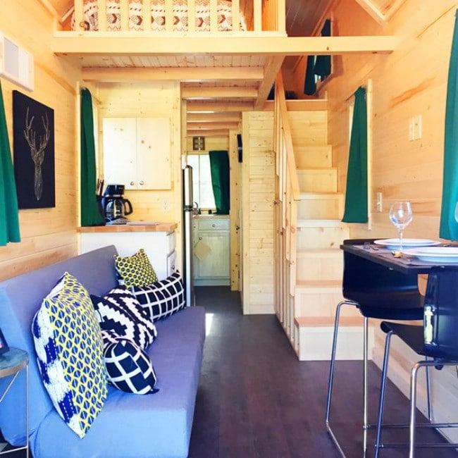 250 Square Foot Rudolf Rental at Leavenworth Tiny House Village