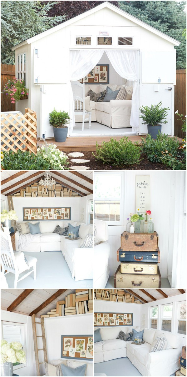 Whimsical in White - Top 80 Gorgeously Comfortable She Sheds and Backyard Tiny Houses