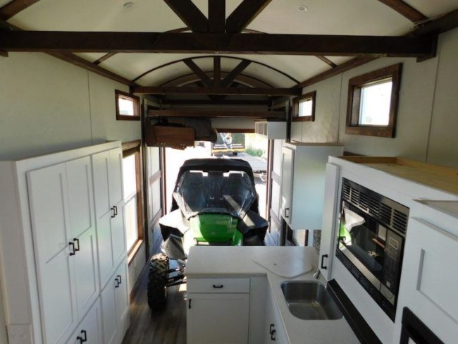Spacious and Luxurious Tiny House with Room for Big Toys