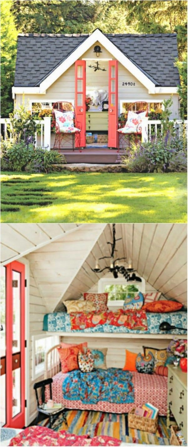 Bright and Cheerful - Top 80 Gorgeously Comfortable She Sheds and Backyard Tiny Houses