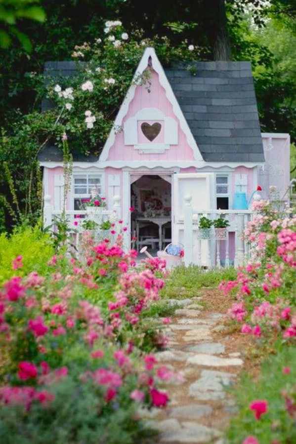 A Full-Size Dollhouse - Top 80 Gorgeously Comfortable She Sheds and Backyard Tiny Houses
