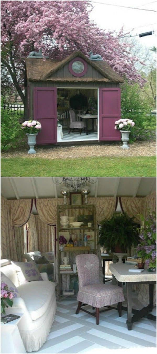 Έντονη πορφυρή πόρτες - Κορυφαία 80 πανέμορφα άνετα στεγάζει και μικρά σπίτια πίσω αυλή