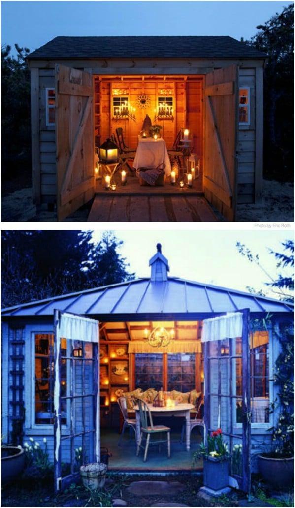 Rustic Backyard Nook - Κορυφαία 80 πανέμορφα άνετα στεγάζει και μικρά σπίτια πίσω αυλή