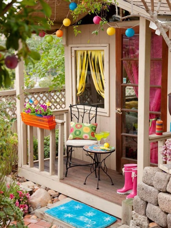 Cute And Colorful Top 80 Gorgeously Comfortable She Sheds Backyard Tiny Houses