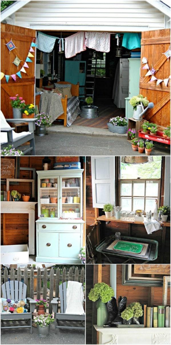 Cute Backyard Hideaway - Top 80 πανέμορφα άνετα που υπόστεγα και κατώφλι σπιτιών κήπου