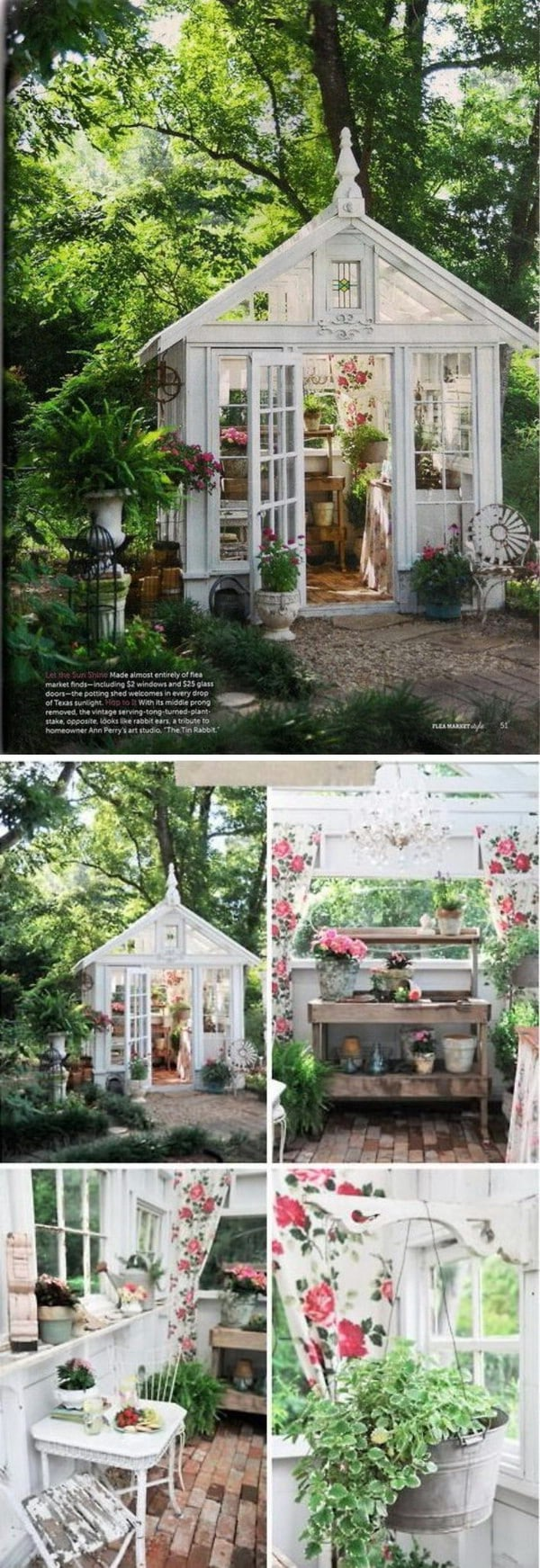 Posh Potting Shed - Top 80 Gorgeously Comfortable She Sheds and Backyard Tiny Houses