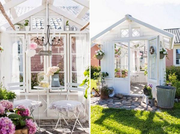 Μπάνιο στο Φως - Top 80 Gorgeously Άνετα Έχει υπόστεγα και μικρές κατοικίες Backyard