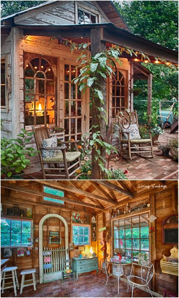 Jenny's Garden Shed - Κορυφαία 80 πανέμορφα άνετα που στεγάζει και τα μικρότερα σπίτια Backyard
