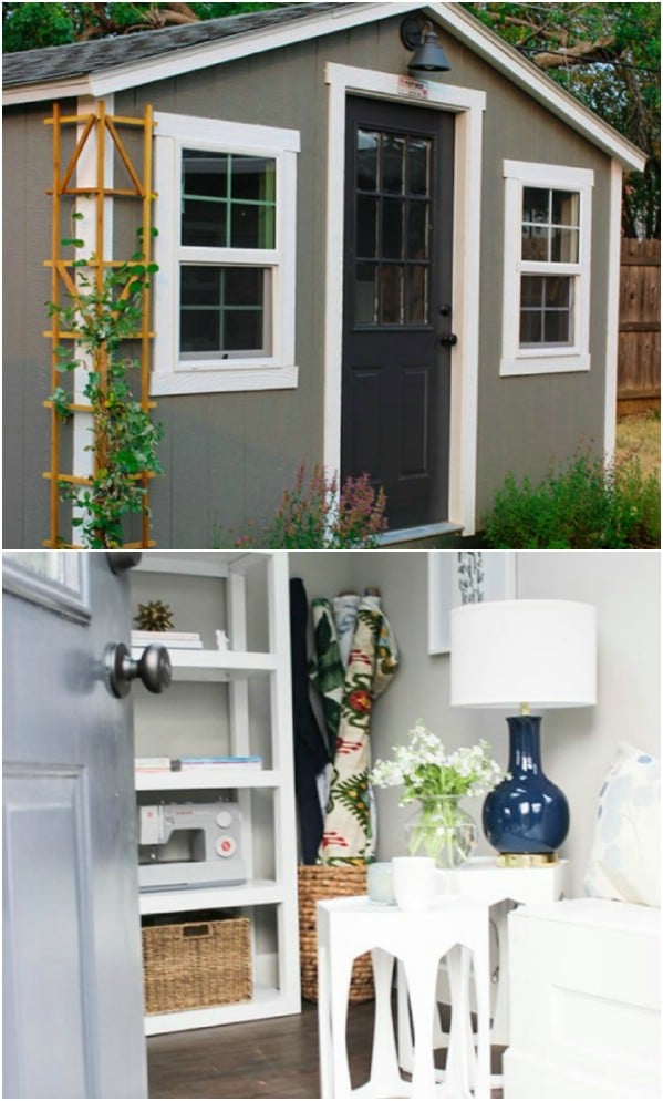 A Simple Studio Retreat - Top 80 Gorgeously Comfortable She Sheds and Backyard Tiny Houses
