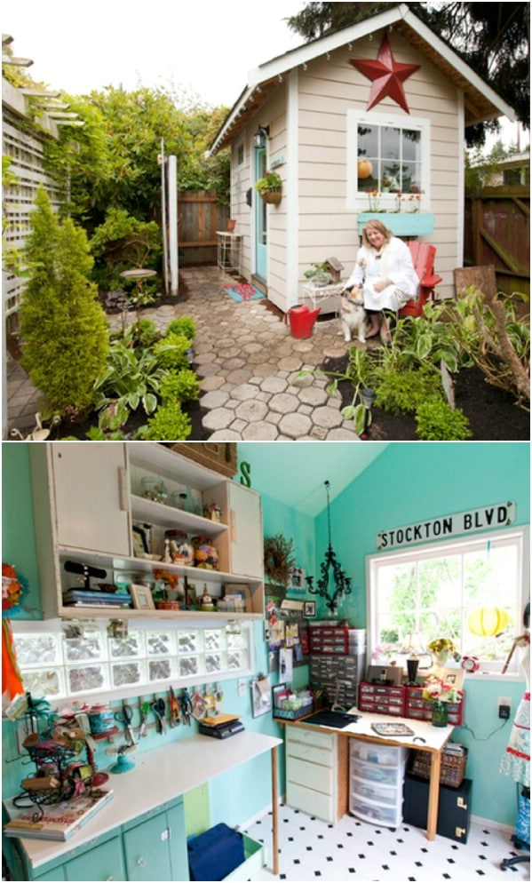 Tippy Stockton's Studio - Top 80 Gorgeously Comfortable She Sheds and Backyard Tiny Houses