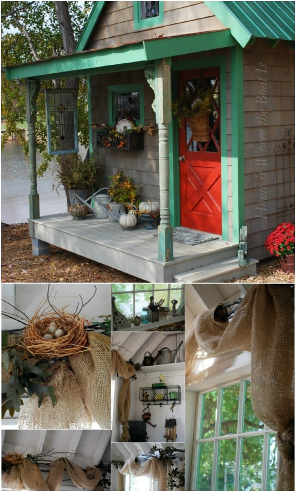 Potting Shed with Green Trim - Top 80 Gorgeously Comfortable She Sheds and Backyard Tiny Houses
