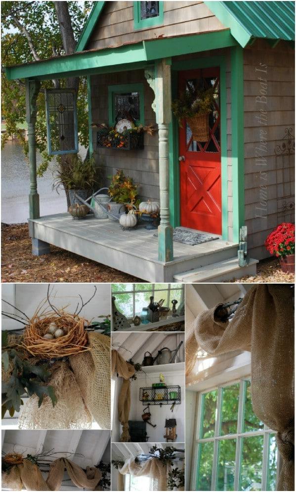 Potting υπόστεγο με πράσινο περικοπή - Top 80 πανέμορφα άνετα που στεγάζει και μικρό οίκημα κατωφλιού