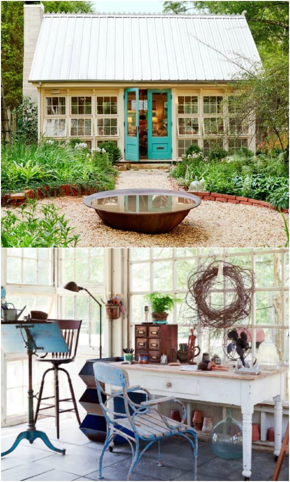 Το Studio του Καλλιτέχνη - Top 80 Gorgeously Άνετα Έχει υπόστεγα και Tiny Σπίτια Backyard