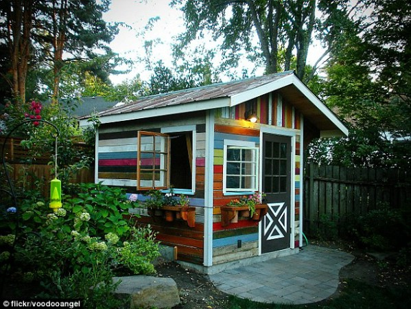 The Most Colorful She Shed Ever - Top 80 Gorgeously Comfortable She Sheds and Backyard Tiny Houses