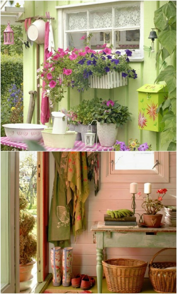 Pink and Green Delight - Top 80 Gorgeously Comfortable She Sheds and Backyard Tiny Houses