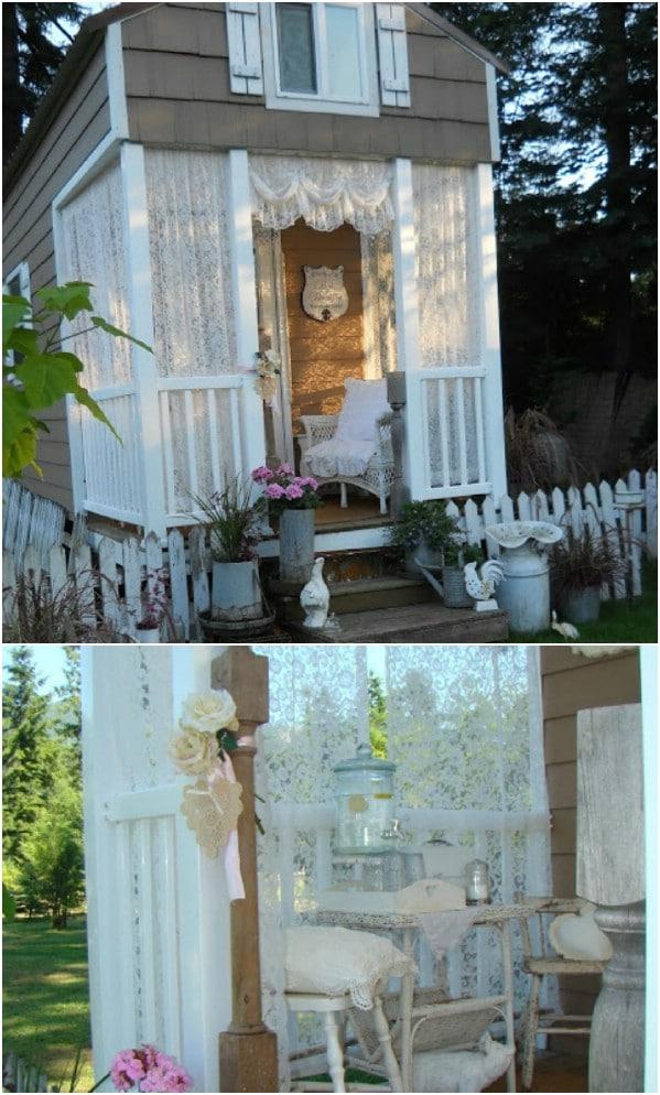 Το μικροσκοπικό Makeover βεράντα - Top 80 πανέμορφα άνετα που στεγάζει και τα μικρά σπίτια αυλή