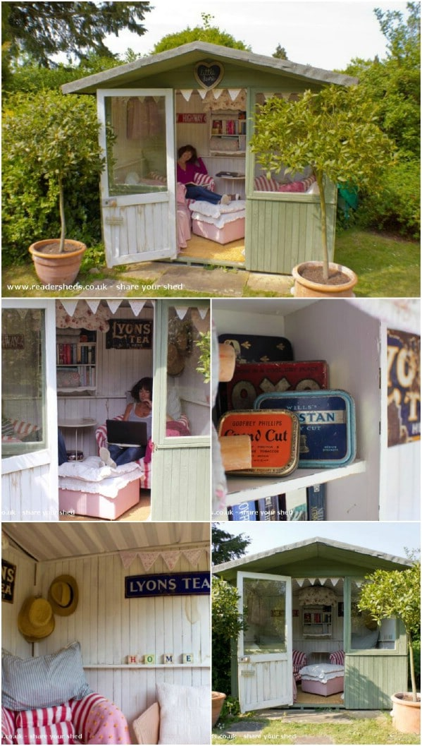 Adorable Little Shed With Lots of Light - Top 80 Gorgeously Comfortable She Sheds and Backyard Tiny Houses