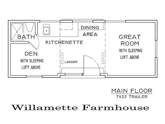 The Willamette Farmhouse with Double-Loft by Tiny Smart House