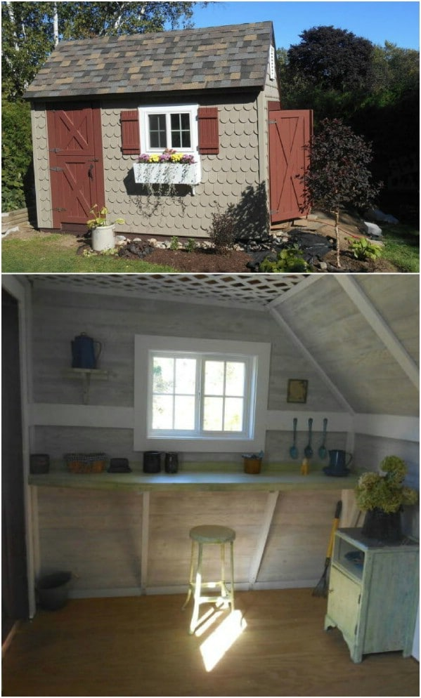 Cute Salt Box Style She Shed - Top 80 Gorgeously Comfortable She Sheds and Backyard Tiny Houses