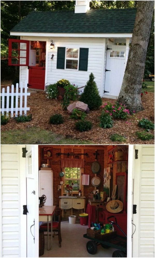 Old-Fashioned Schoolhouse Charm - Top 80 Gorgeously Comfortable She Sheds and Backyard Tiny Houses