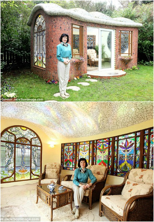 Stained Glass Wonderland - Top 80 Gorgeously Comfortable She Sheds and Backyard Tiny Houses