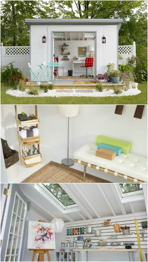 Another Cute Reading Nook - Top 80 Gorgeously Comfortable She Sheds and Backyard Tiny Houses