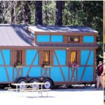 Bold and Blue 287 Square Foot Adeline at Leavenworth Tiny House Village