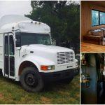 Graphic Designer DIYs School Bus Conversion on Tiny Budget