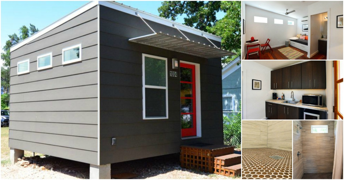 225 square foot contemporary tiny house for sale in austin for Coastal home builders texas