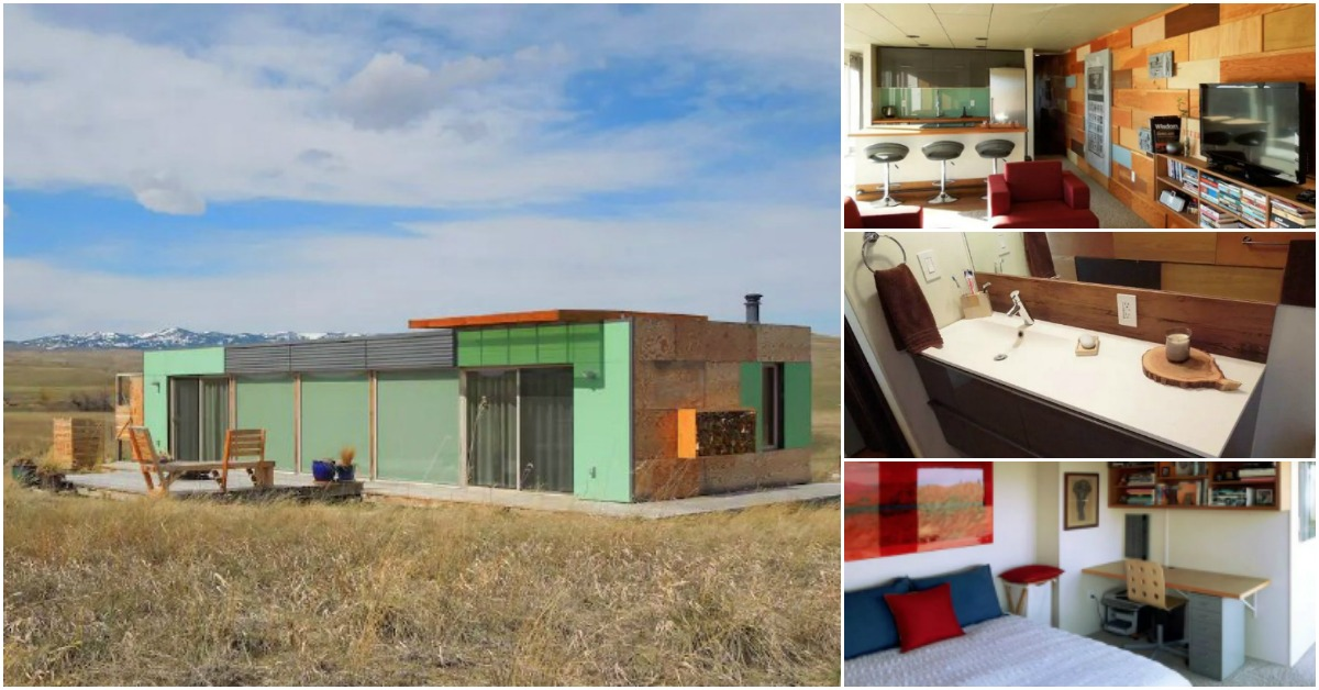 700 Square Foot Home Made out of Shipping Containers in the Middle on montana cabin designs, montana kitchen designs, montana greenhouse designs, montana home designs,