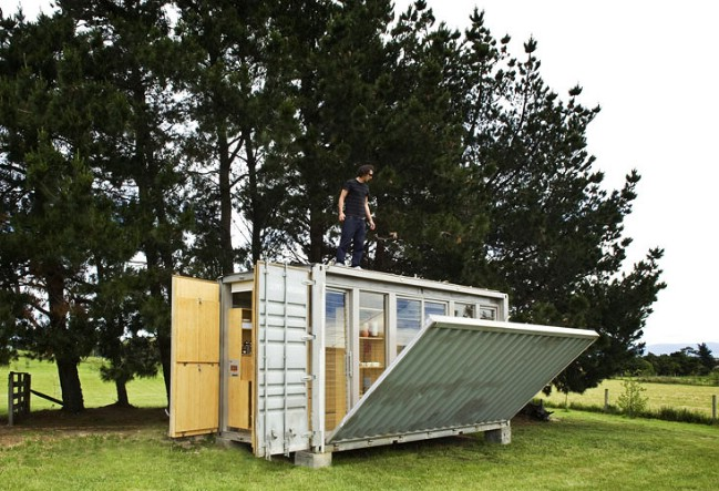 The Port-A-Bach Is a Tiny Container Home Which Is All Windows
