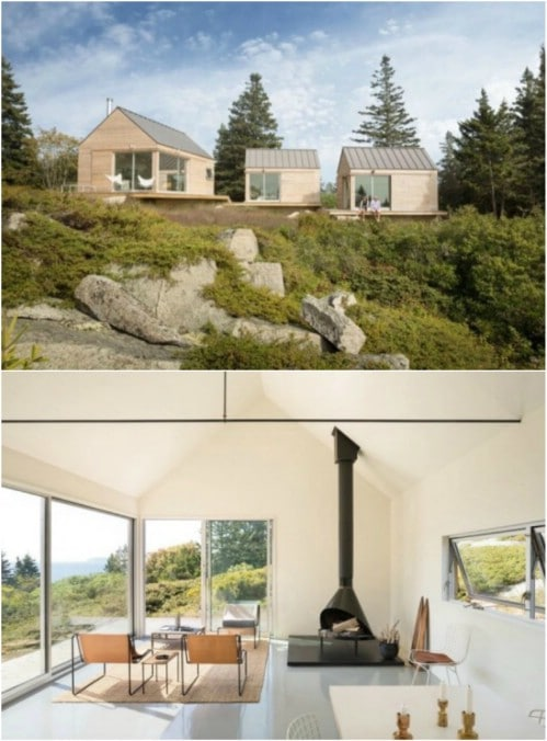 A Trio of Modern Tiny Houses in Maine