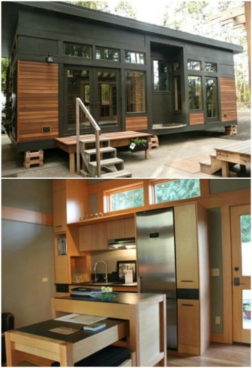 This Metal and Cedar Tiny House Has Minimalist Influences
