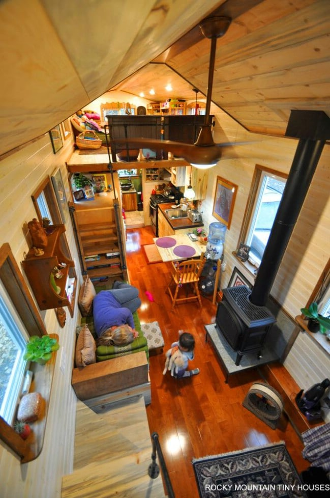 How Much Ceiling Room Loft Tiny House