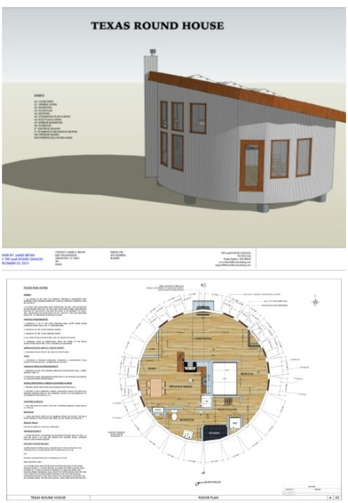 17 do it yourself tiny houses with free or low cost plans for Round house plans free