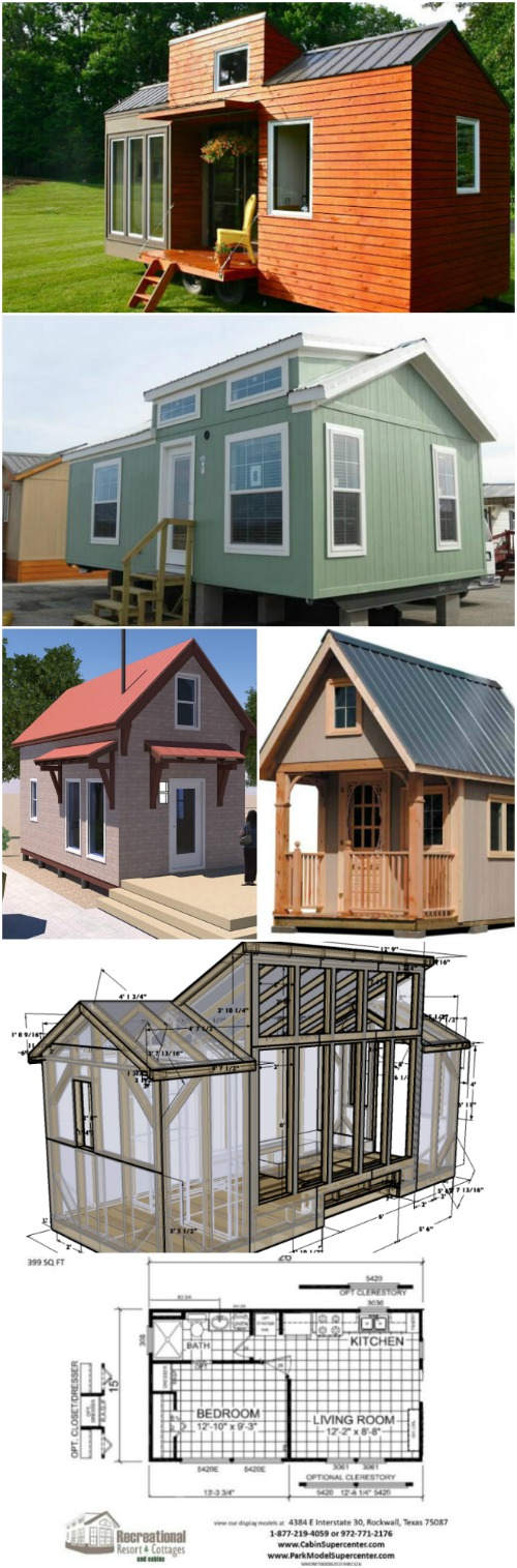 17 do it yourself tiny houses with free or low cost plans for Cost of tiny house kits
