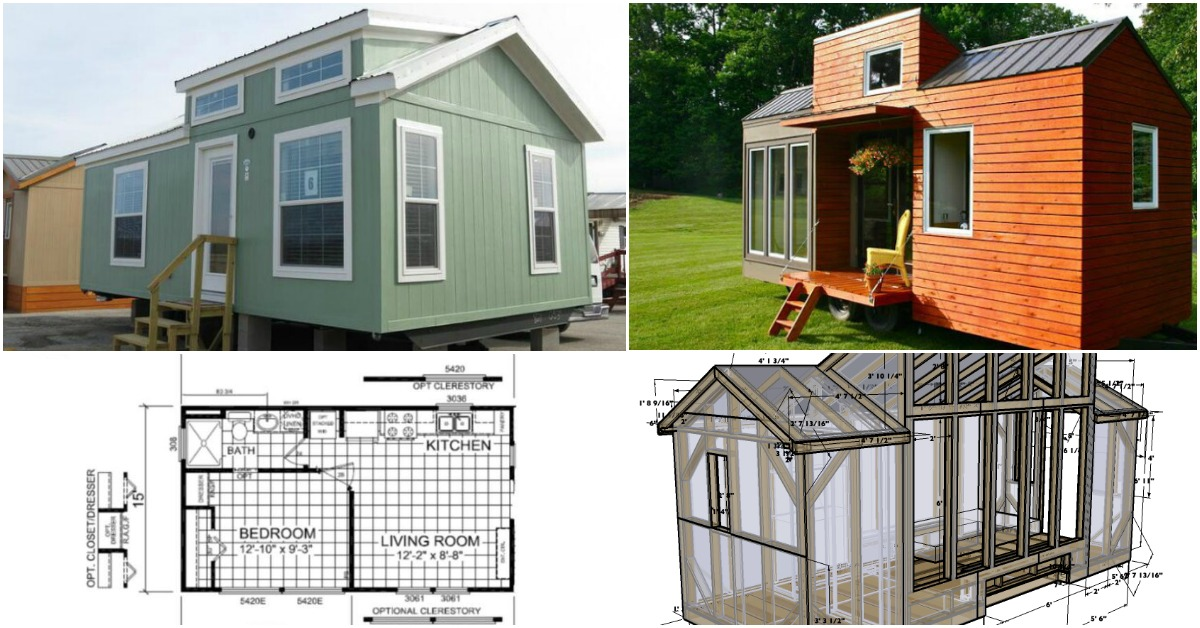 17 Do it Yourself Tiny Houses with Free or Low Cost Plans ... Small Mobile Home Porch Plans Diy on deck plans, diy screened in back porch ideas, mobile home covered porch plans, diy decks and porches, double wide mobile home floor plans,