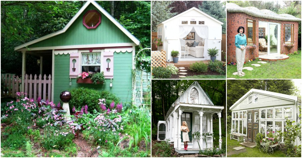 Top 80 Gorgeously Comfortable She Sheds And Backyard Tiny Houses   Tiny  Houses