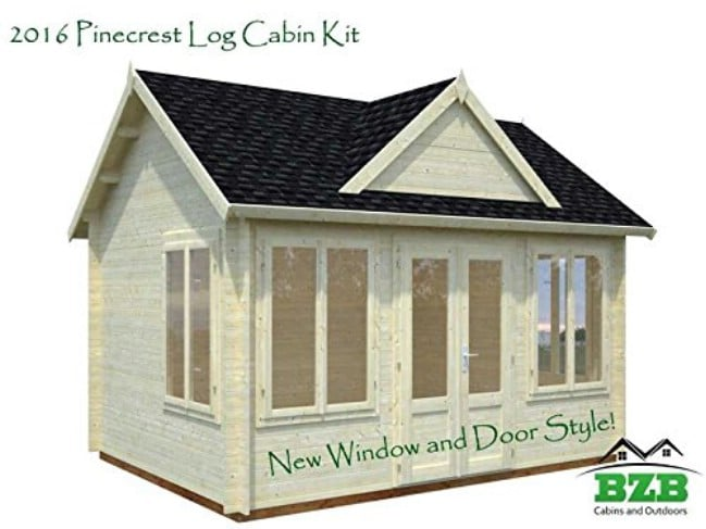 You Can Build This Log Cabin From a Kit Available on Amazon.com