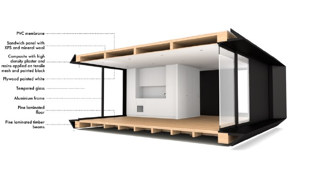 The 387.5 Square Foot MIMA House Can Be Constructed By Just Two People