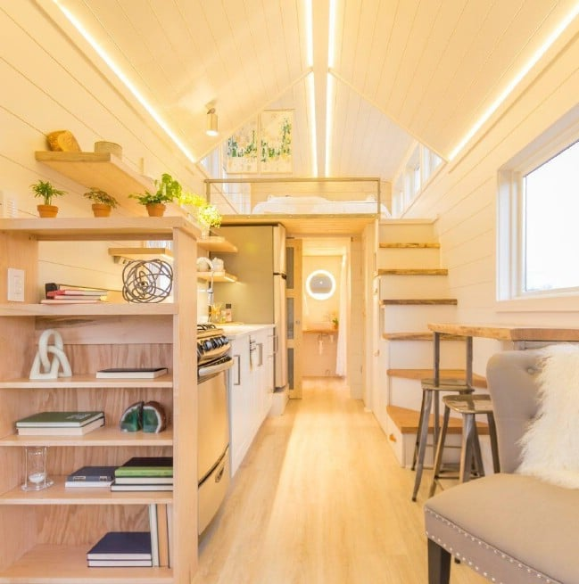 Adorable Tiny House by Olive Nest with Attached Green House