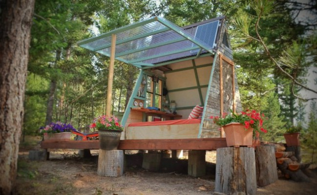 This Tiny A-Frame Cabin Took 3 Weeks to Build and Cost Just $700