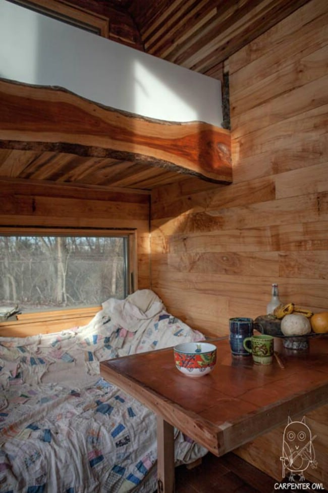 Self-Proclaimed Introvert Builds Nearly Chemical-Free Tiny House on His Own
