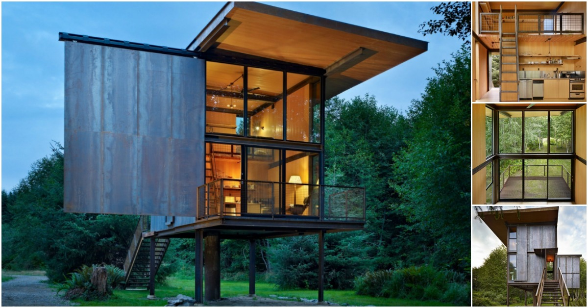 The Sol Duc Cabin Is 350 Square Feet Of Sheer Modern