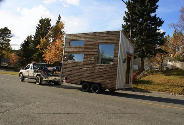 The plans for the beautiful leaf house can be yours for for Leaf house tiny house